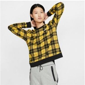 Nike Women's Plaid Fleece Crew Tee